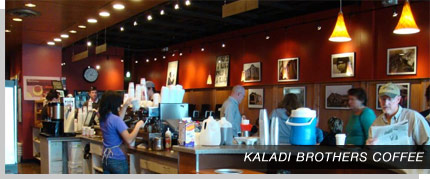 Kaladi's Coffee Shop - E. Evans, near the University of Denver