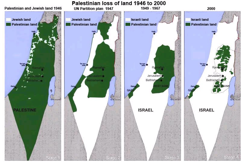 Israel eating into palestinian territory