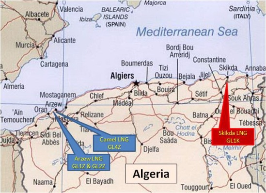 Algeria - Oil pipelines
