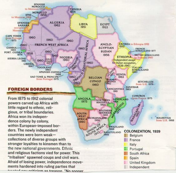 Africa - 1939 - Colonization Map