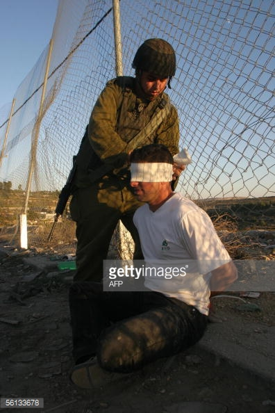 arresting Palestinian youth