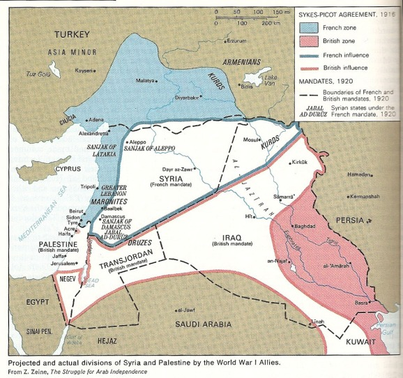 Syria - created as a result of the 1916 Sykes-Picot Agreement, secret agreement which carved up the old Syrian vilayet of the Ottoman Empire...