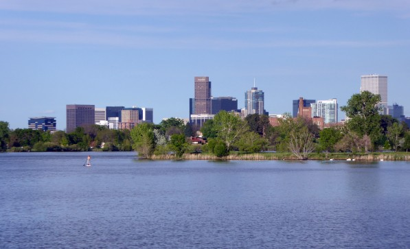 Sloan's Lake - Looking East Towards Downtown Denver