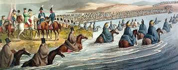 Napoleon Crossing the Neiman River To Invade Russia - June 24, 1812
