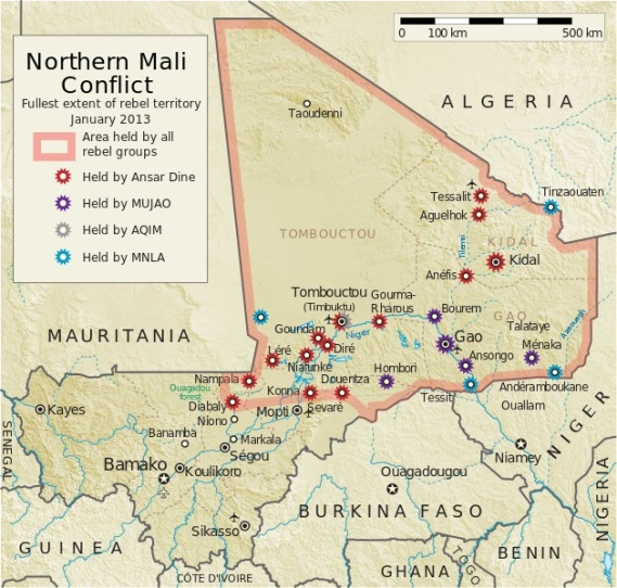 Mali - war zones...April 2012