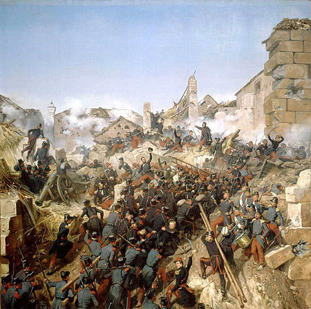 French Troops Storm Constantine in Eastern Algeria - 1837