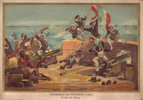 French Troops Attack Sfax on the Tunisian Coast - 1881