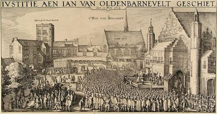 1619 - Beheading of Johan van Oldenbarnevelt, one of the United Provinces most esteemed politicians