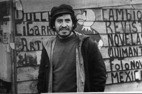Victor Jara, Chilean singer, tortured and killed by the U.S. backed (and planned) 1973 coup in Chile.