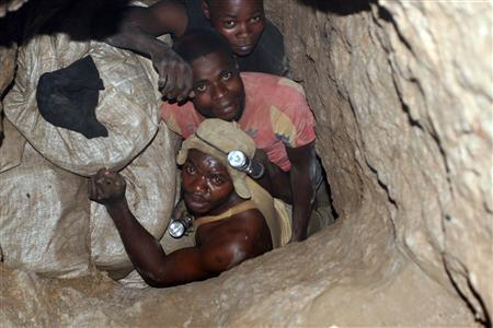 Congolese Cobalt Miner...There are about 100,000 of them. Without him, no smart phones. Most of the cobalt in the world is found in Congo and neighboring Zambia, more than 60% of the world's total supply in the Congo-Zambia copper belt as it is called