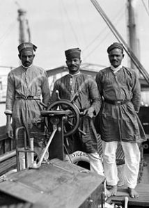 Lascars - Indian seafarers on a British steamer in the late 19th century;