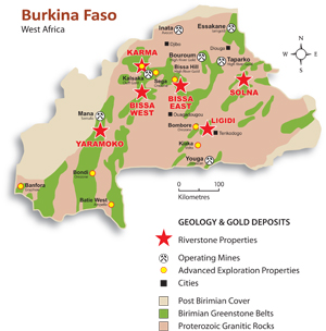 TrueGold mining sites in Burkina Faso