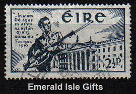 Stamps Commemorating The Easter Rising when Irish nationalists rose in armed revolt against 800 years of British rule. Roger Casement, a man born of privilege, gave his life in support of this cause