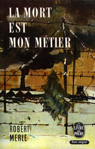 Livre de Poche (popular French paper-back series) cover to La mort est mon metier.