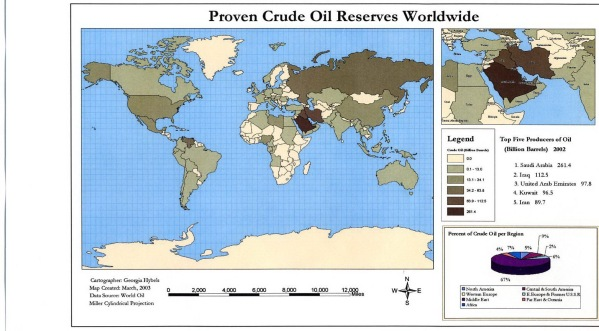 World proven oil reserves