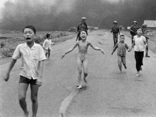 Vietnam - young victims of a US bombing raid