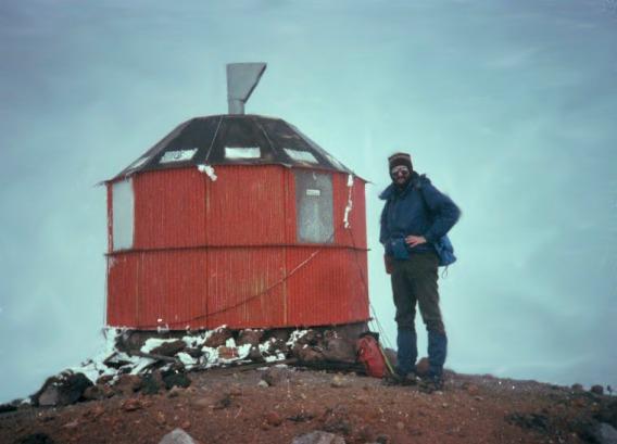 Harry Nier, an avid mountain climber, here a top of Pico Turquino, Cuba's highest peak.