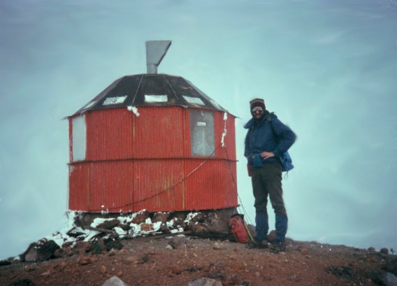 Harry Nier, an avid mountain climber, here a top of Pico Turquino, Cuba's highest peak.