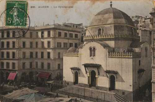 Grand Synagogue in Algiers, built 1865. There are no Jews left in Algeria although small number remain in Morocco and Tunisia, a shadow of their former presence