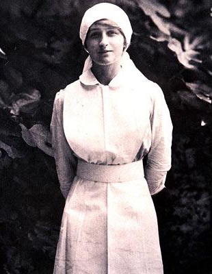 Vera Brittain, during her service in the Voluntary Aid Detachment