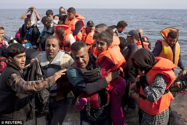 Syrian refugees - a few of the four million - fleeing the conflict