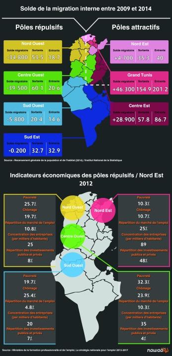 Domestic Tunisian Migration Patterns