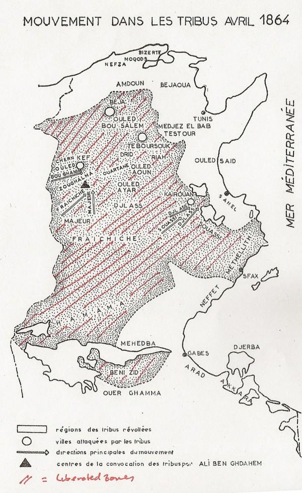 Tunisia - 1864 Rebellion - 1