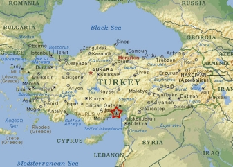 Turkey - Starred Area is Incilek Military Base, long a major US strategic asset in Turkey whose presence has been called into question by the current events.