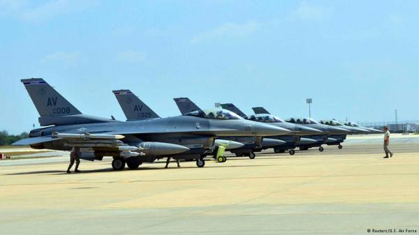 U.S F-16 jet fighters at Incirlik Military Base, Southeast, Turkey
