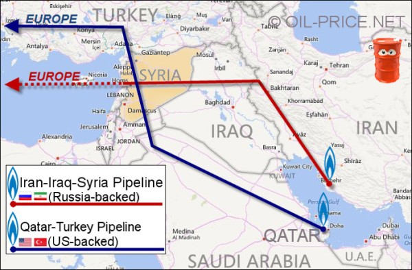 Blue Line - Plan rejected by Syria in 2009. Red Line - Plan agreed to by Syria in 2011