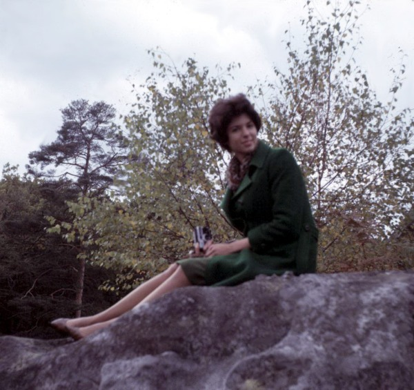 Carole Askinaze, October, 1964, near Fountainbleau, France.