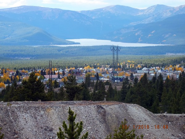 Leadville from the Emmet Mine, looking west.
