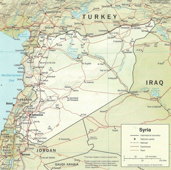 "Syria unified. According to the Doha Protocol - the U.S. political map for dividing the country into enclaves - Syria as shown on this map would no longer exist. The northern region would be controlled by Turkey, which has long had expansionist ambitions in both Syria and Iraq; the eastern area would be dominated by ISIS-Al Nusra types and the south, near the Israeli and Jordanian borders, controlled by rebels manipulated by these two countries. ""Syria"" itself would reduced to a small region around Damascus. It is this plan that the United States is intent on pursuing, come hell or high water"