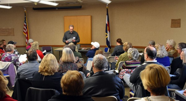 """A meeting to oppose the Trump Agenda and cabinet appointments of """"MoveOn.com"""" in Jefferson County, Colorado (suburb just West of Denver)"""