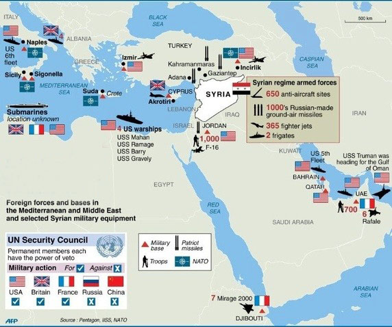 us military bases in the middle east us bases a map
