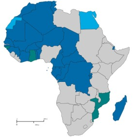 Countries usually considered as Francophone Africa. These countries had a population of 363 million in 2013. Their population is projected to reach between 785 million and 814 million in 2050. French is the fastest growing language on the continent (in terms of official or foreign language). Francophone but are Members or Observers of the OIF
